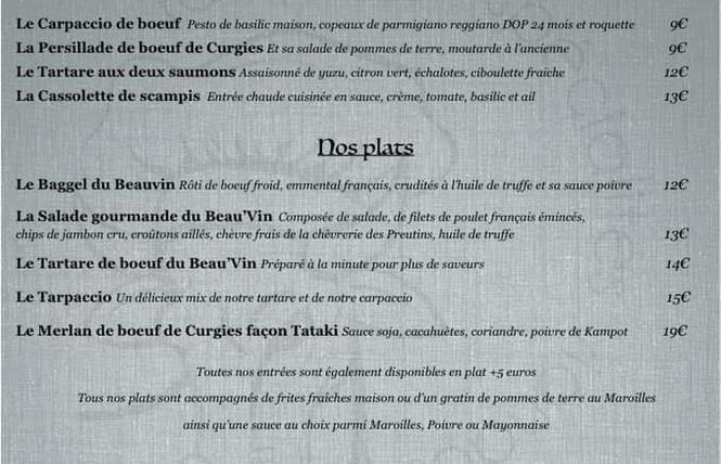 Au Beau Vin (INFOS COVID) 10 - Valenciennes